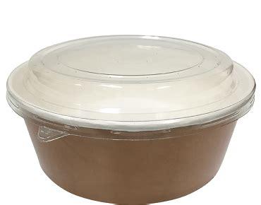 Food Grade Brown Kraft Paper Bowl Lid Paper Bowl Coklat 8oz 240ml colpac 174 multi food pot pet lid combo pak 174 1000ml paper bowl castaway 174 food packaging