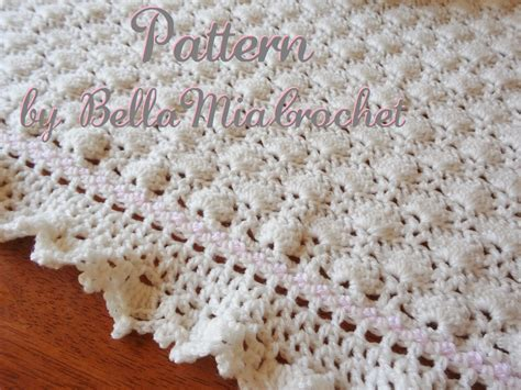 etsy pattern crochet baby crochet blanket pattern ruffled lace trim eva