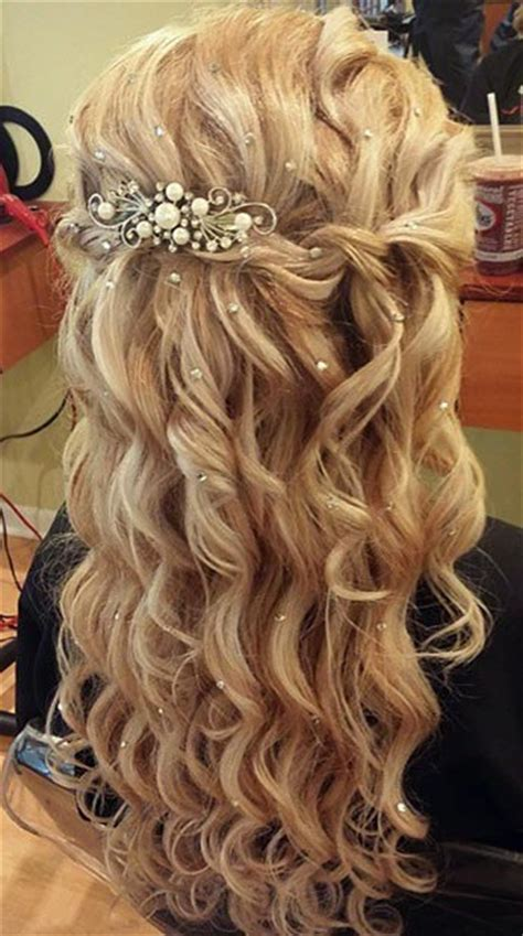 prom hairstyles down thin hair 26 stunning half up half down hairstyles wedding half