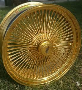 Gold Truck Rims For Sale 24 Inch Sted Gold Dayton Wire Wheels Custom Wheels