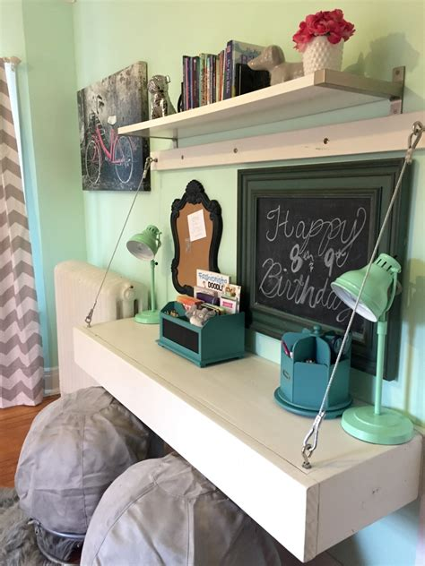 ana white floating bunk beds  desk diy projects