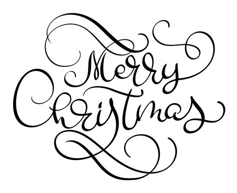 merry christmas vector text calligraphic lettering design card templatecreative typography