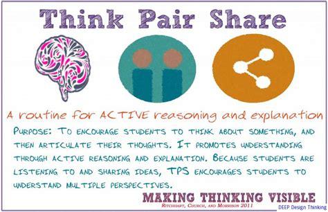 think pair template pdf think pair via scitechyedu http