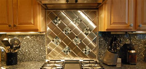 Metal Backsplash Tiles For Kitchens Kitchen Tin Backsplash Home Design Tips And Guides