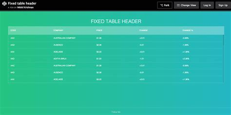 design header css beautiful html table css download