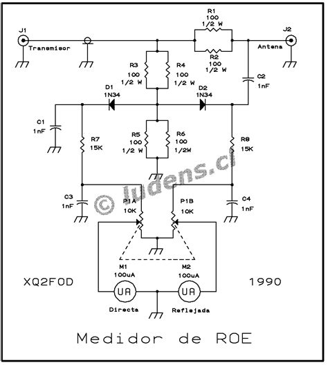 cl meter circuit diagram wideband swr meter