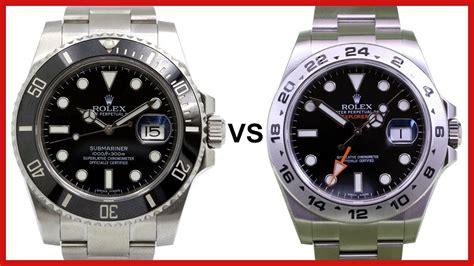 Rolex Submarine 2 rolex submariner vs explorer ii 42mm gmt comparison