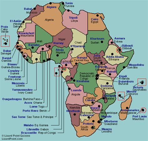 africa map countries quiz test your geography knowledge africa capital cities