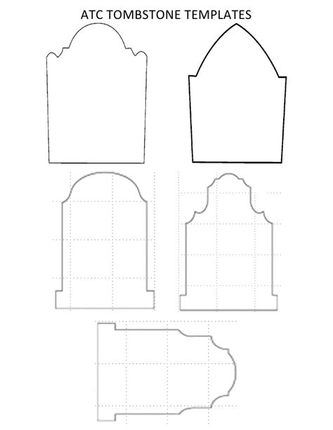 tombstone templates for atc tombstone templates docx paper crafts