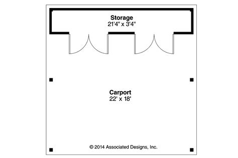Carport Floor Plans by Traditional House Plans Carport 20 094 Associated Designs