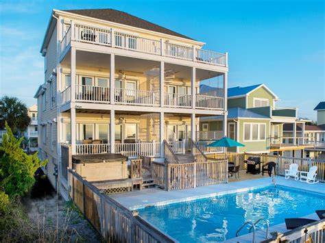 carolina beach house rentals luxury oceanfront pool hot tub elevator vrbo