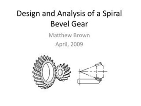 design and manufacturing of gears ppt mechanism simple gear train with idler and bevel