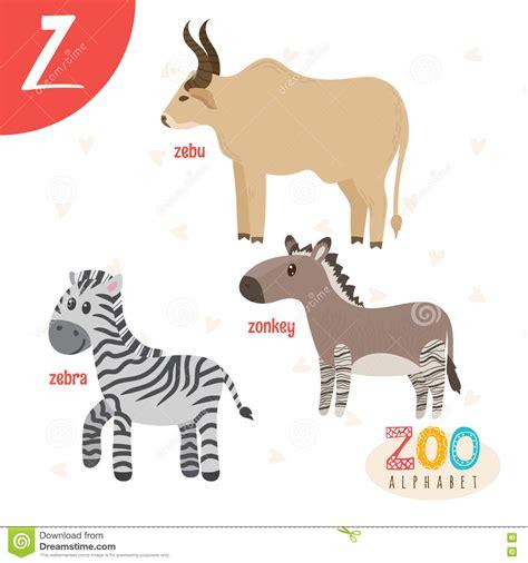 imagenes de animales con z letter z cute animals funny cartoon animals in vector
