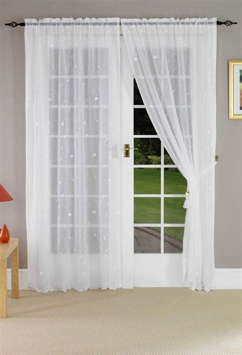 voile curtains for french doors french door net curtains memsaheb net