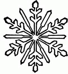 snowflake colouring pictures clipart