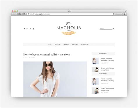 theme it blog the ultimate collection of the top minimalist wordpress