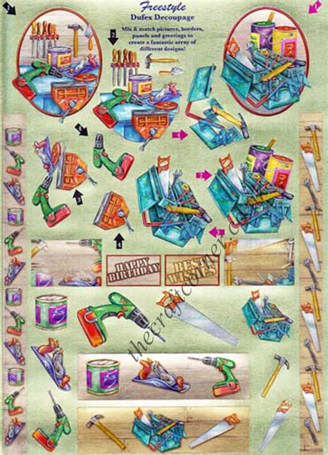 Die Cut Decoupage - freestyle diy tools 3d die cut decoupage sheet from dufex