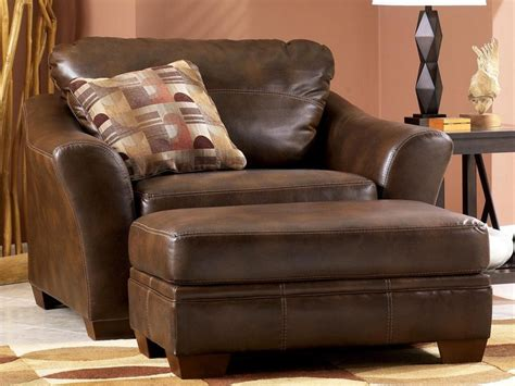 Leather Chair And A Half With Ottoman Home Design Ideas