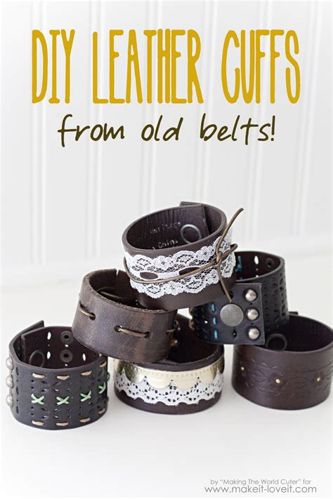 Diy Leather by Diy Leather Cuffs From Belts Make It And It