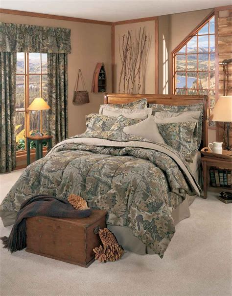 Camo Bedroom Ideas Realtree Advantage Camo Comforter Sets Cabin And Lodge Bedding Decor