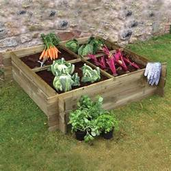 wooden raised vegetable bed planter by grange