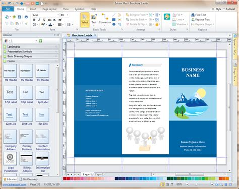 leaflet design free software brochure software a powerful tool to make elegant brochures