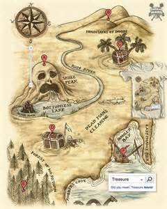 treasure map maps real and