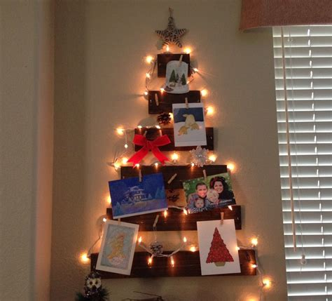 diy christmas decor wooden tree christmas card holder
