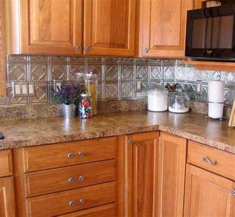 tin kitchen backsplash kitchen metal backsplash ideas