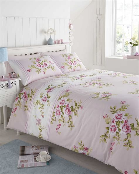 Burton Flower Pink Cover White pink floral duvet cover single sweetgalas