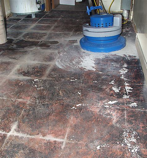 Glue and epoxy removal from concrete floor after the tiles