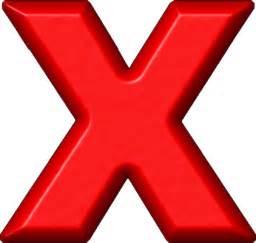 presentation alphabets refrigerator magnet x