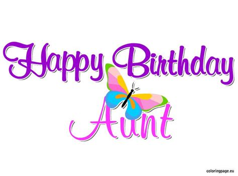happy birthday aunt coloring pages happy birthday aunt coloring page party ideas pinterest