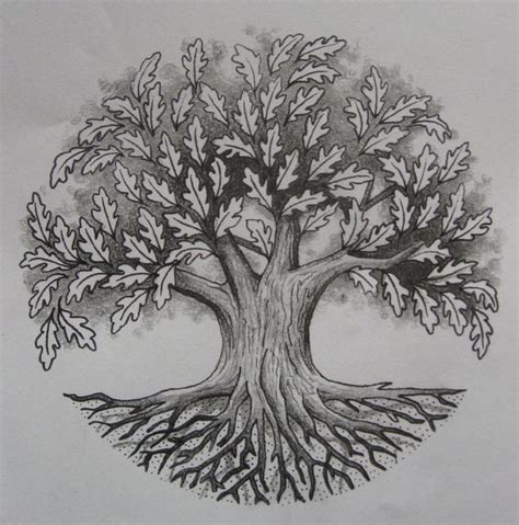 small oak tree tattoo 55 oak tree tattoos collection