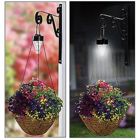 solar light plant solar hanging plant basket kit outdoor mount garden