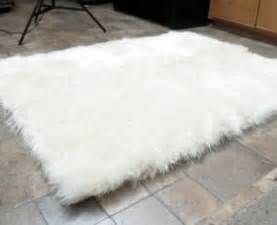 faux fur area rug white large rugs carpets