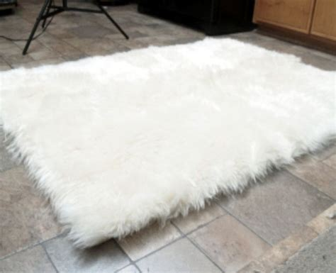 White Rug by Faux Fur Area Rug White Large Rugs Carpets