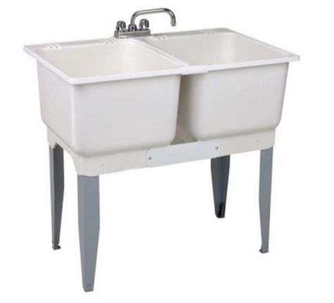 bowl laundry tub utility sink bowl laundry tub 30 gal freestanding plastic