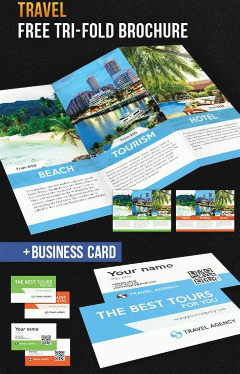Free Tri Fold Business Card Template by 30 Free Brochure Templates For Food Health And