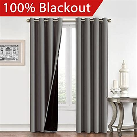 silk drapes with blackout liner flamingop full blackout grey curtains faux silk satin with