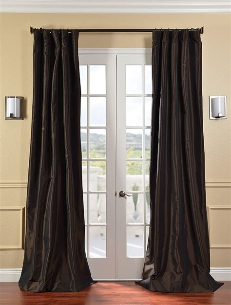 faux taffeta curtains java faux silk taffeta curtains drapes