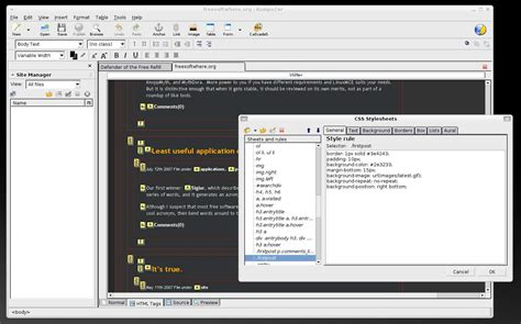 kompozer web design html editor kompozer revives mozilla wysiwyg web editing software