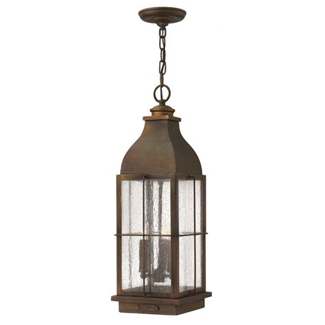 Pendant Porch Light Rustic Cast Brass Hanging Porch Lantern In Traditional Style