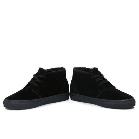 vans black suede chukka decon fleece boots size 3 11 ebay