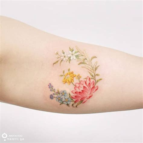 6 month tattoo 25 best birth flowers ideas on