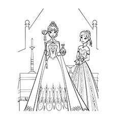 elsa coronation coloring pages 50 beautiful frozen coloring pages for your little
