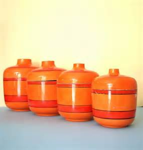 orange kitchen canisters 111 best images about 70 s on vintage plates
