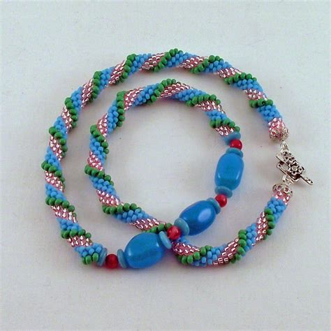 seed bead crochet patterns bead crochet rope crocheted seed bead spiral necklace
