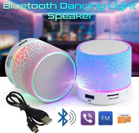 Speaker Bluetooth Led Bt809l led portable mini bluetooth speakers wireless free speaker with tf usb fm microphone