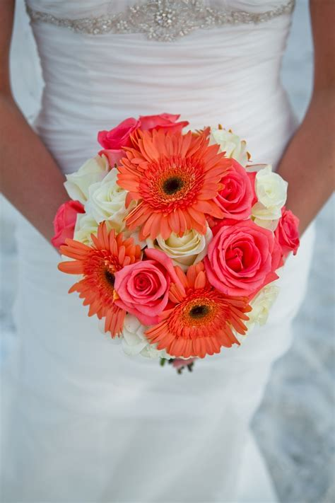 Wedding Bouquet Base by The Gallery For Gt And White Gerbera Daisies Bouquet